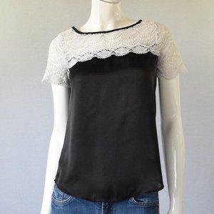 LC Lauren Conrad Black & White Top Size XS